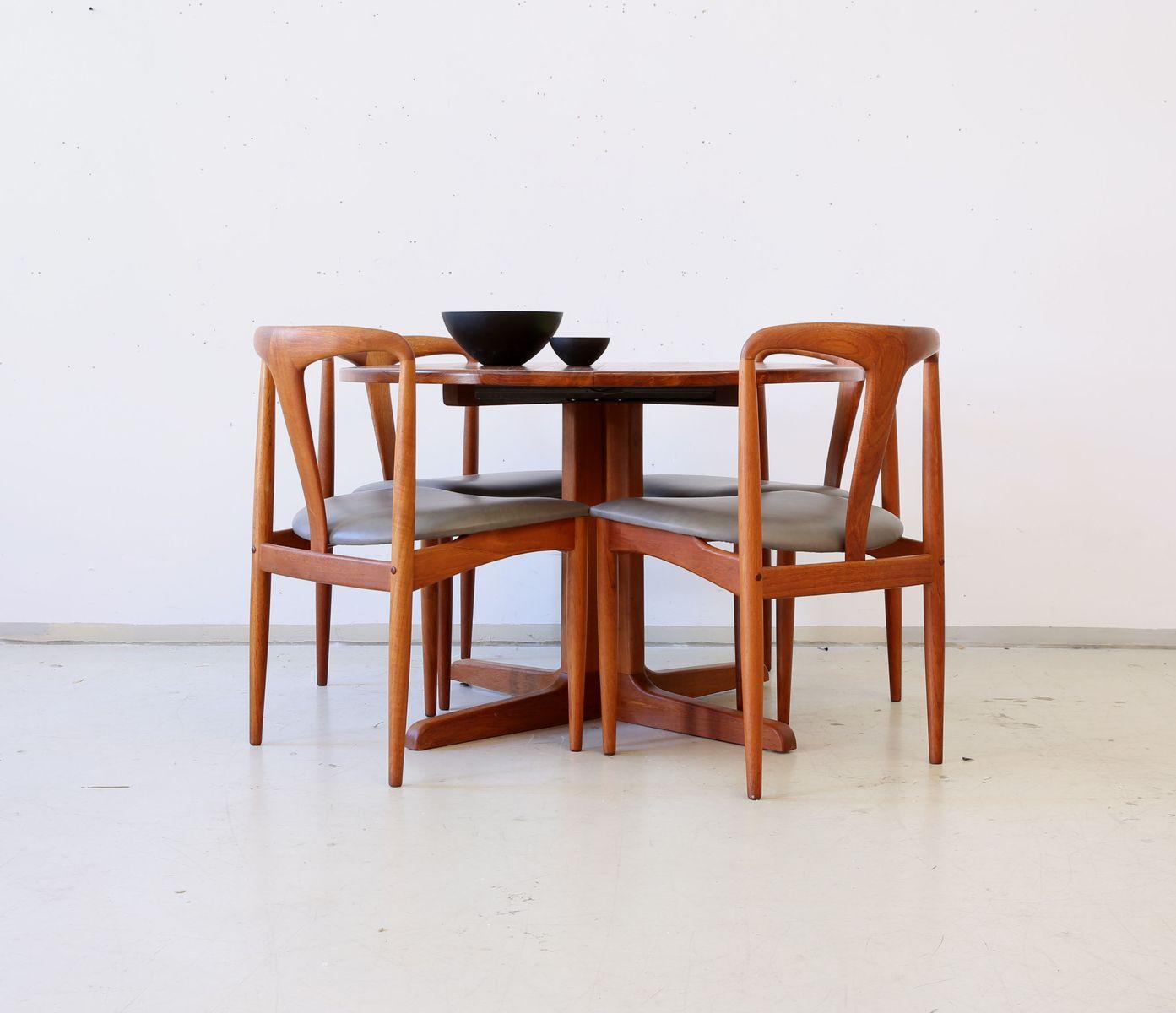 runder ausziehbarer d nischer vintage esstisch bei pamono kaufen. Black Bedroom Furniture Sets. Home Design Ideas
