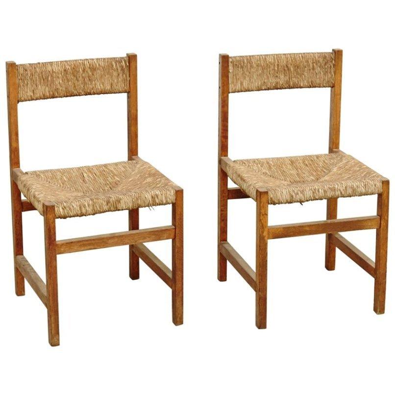 Spanish Rattan Chairs, 1950s, Set Of 2