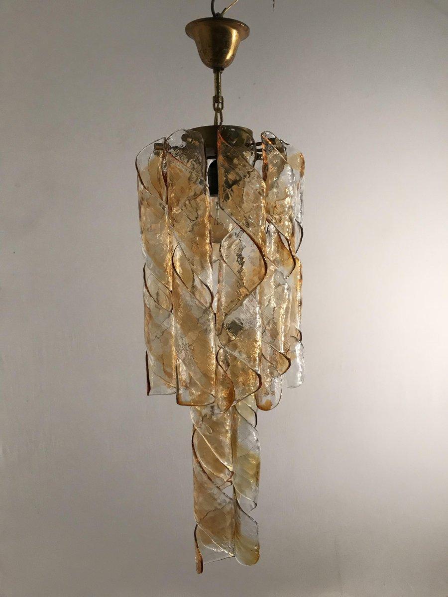 Mid-Century Murano Glas Kronleuchter von Gino Vistosi