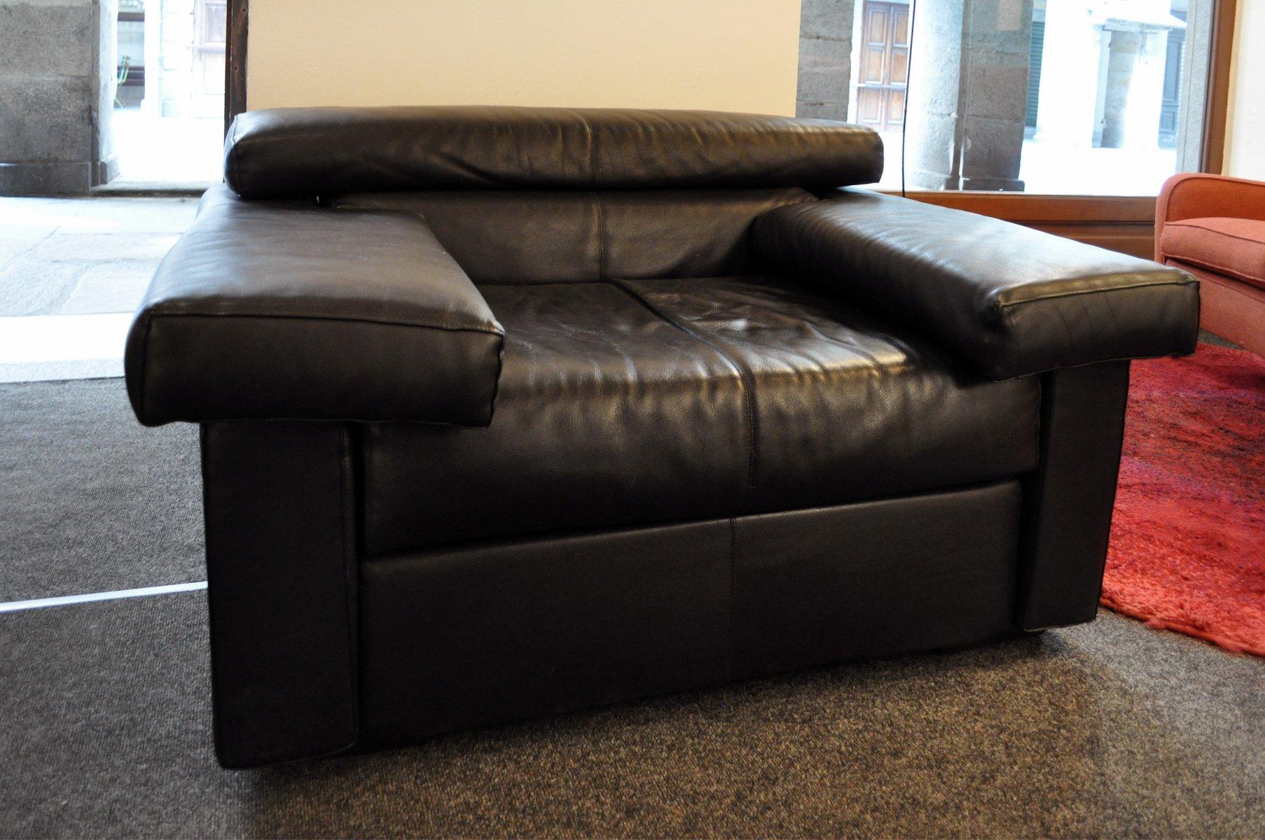 modell erasmo leder sofa sessel von tobia afra scarpa f r b b italia 1980er bei pamono kaufen. Black Bedroom Furniture Sets. Home Design Ideas