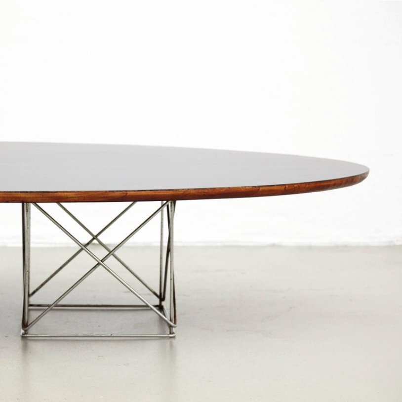 table de salle manger ovale en m tal et formica 1970s en vente sur pamono. Black Bedroom Furniture Sets. Home Design Ideas