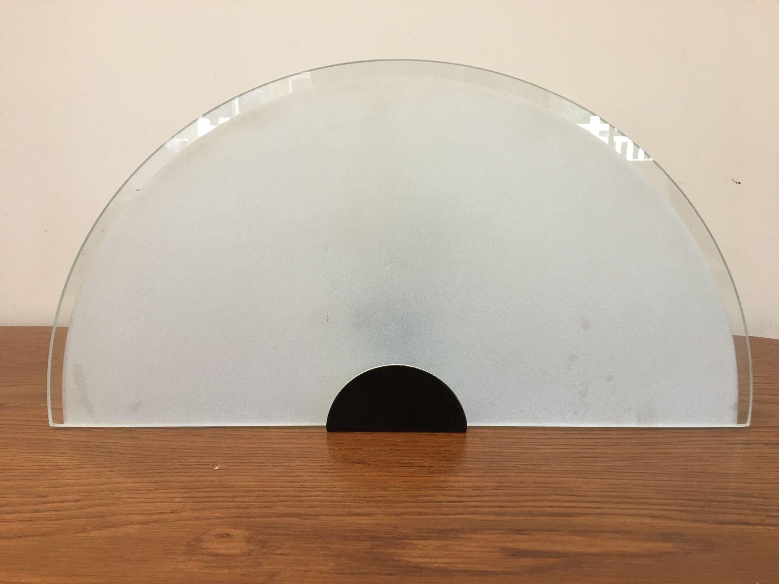 Fächerförmige Wandleuchten aus Glas, 1980er, 2er Set