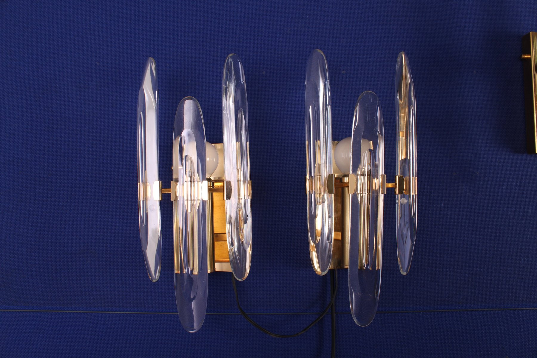 Wandlampen von Gaetano Sciolari, 1970er, 4er Set