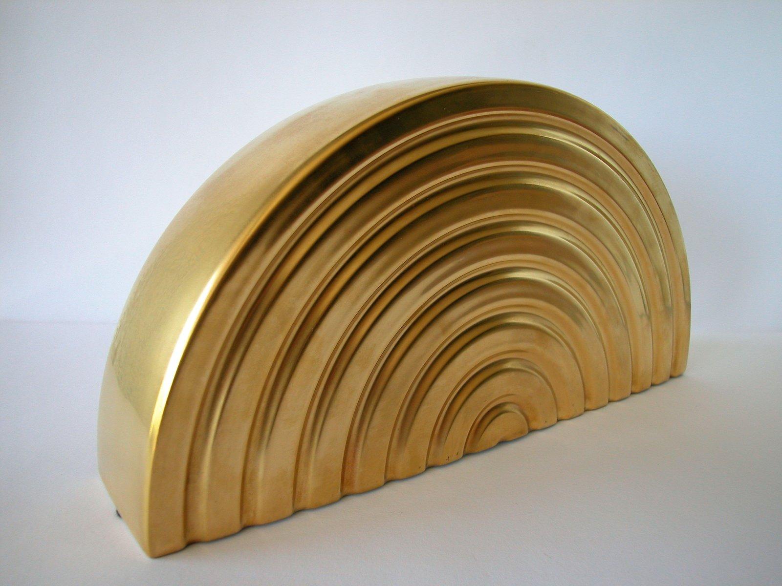 Goldener Porzellan Bogen von Otto Piene für Rosenthal, 1975 bei ...