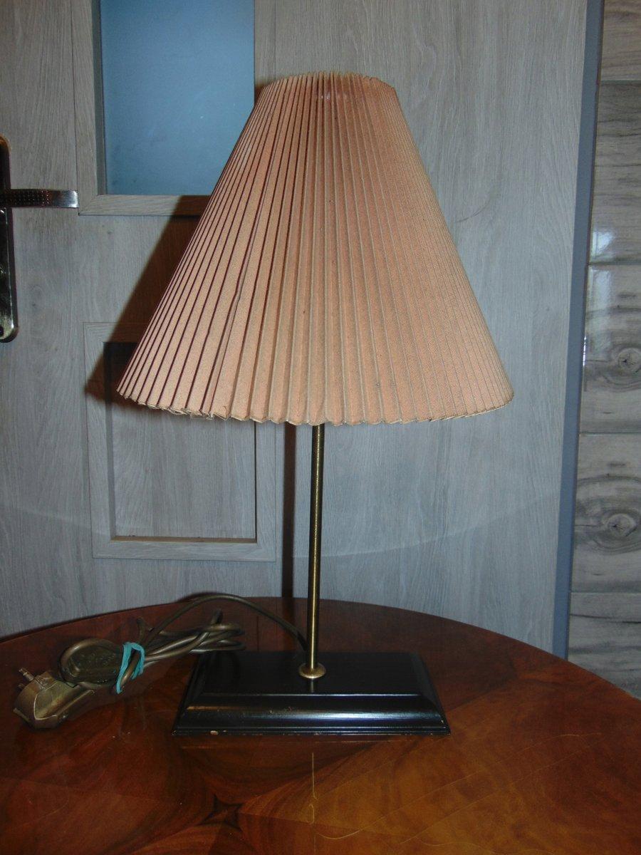 Gefaltete Teak Tischlampe, 1950er