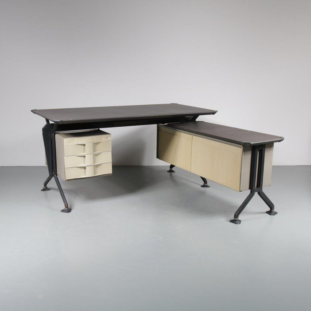 Mid Century L Shaped Desk By Bbpr For