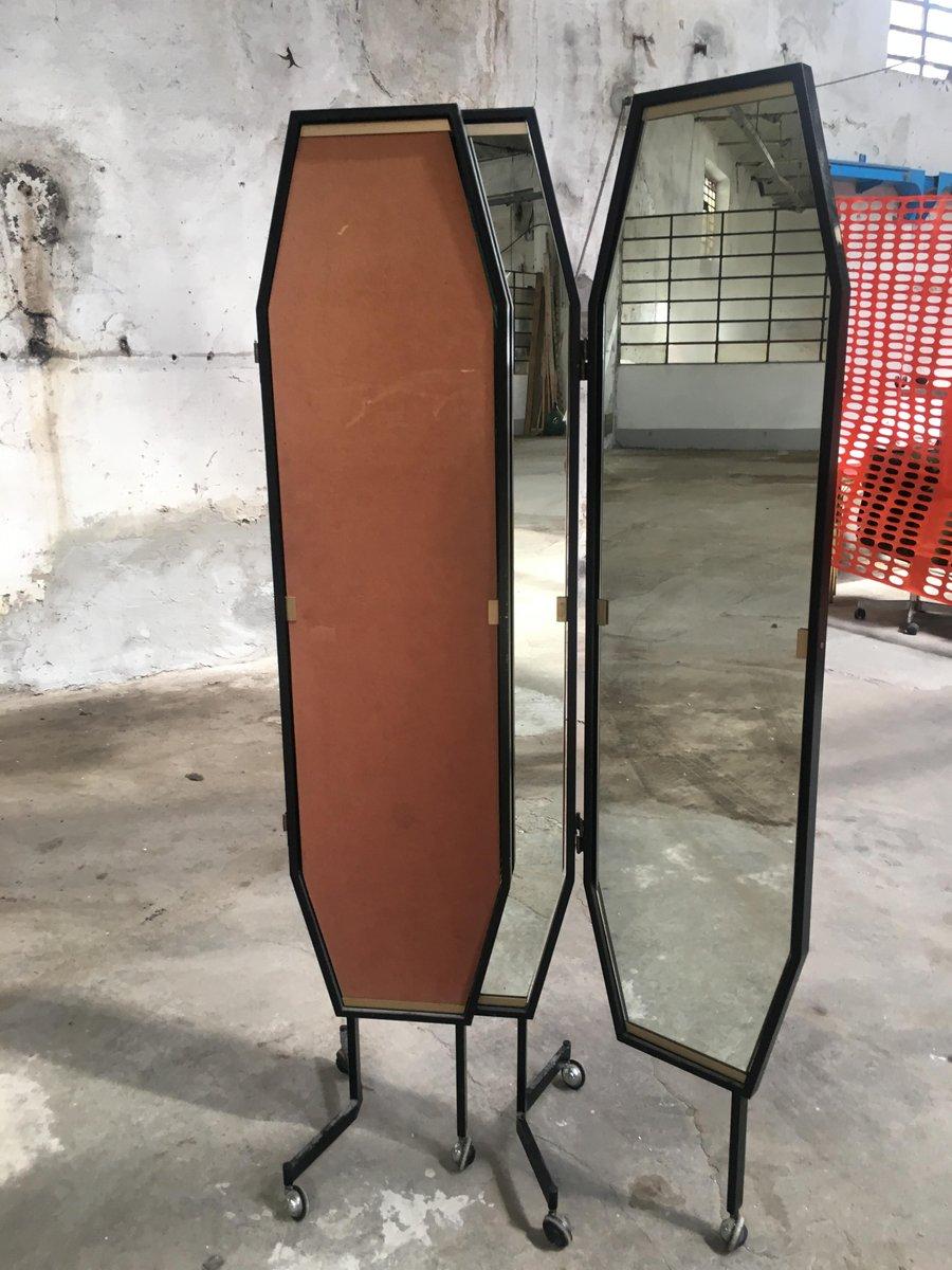 italienischer triptychon spiegel auf rollen von vetreria. Black Bedroom Furniture Sets. Home Design Ideas