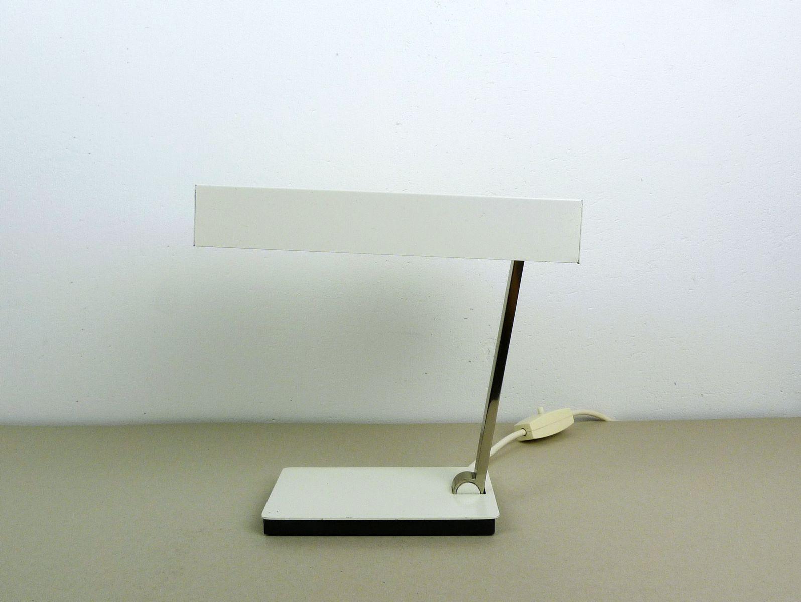 Weiße Schreibtischlampe von Kaiser Leuchten, 1960er