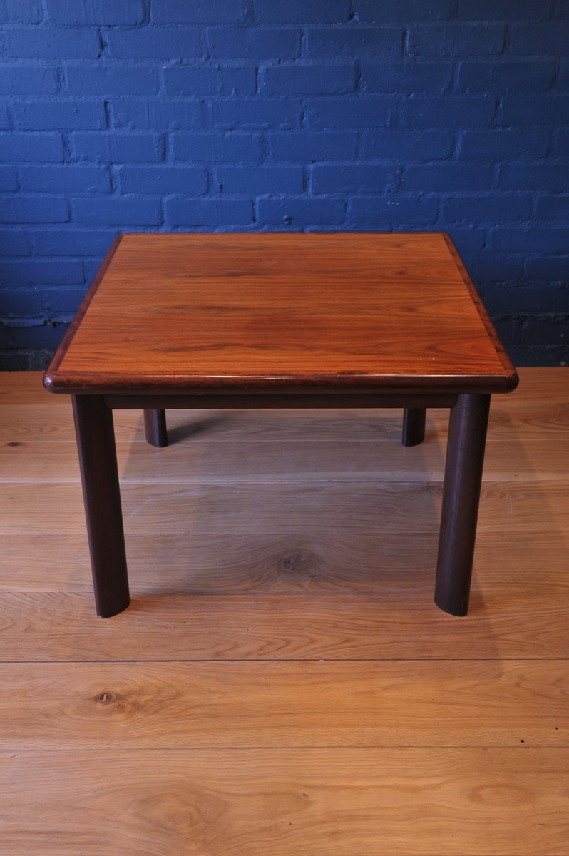 Square Mid Century Rosewood Teak Coffee Table From Dyrlund