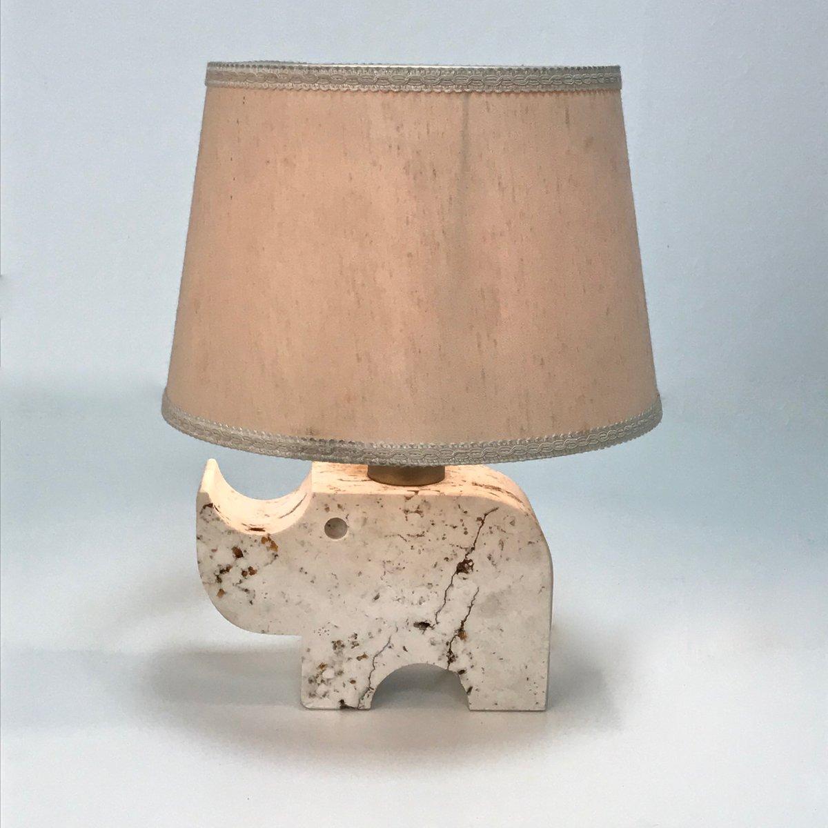 Lampe de bureau rhinoc ros en travertin par fratelli - Lampe de bureau style anglais ...
