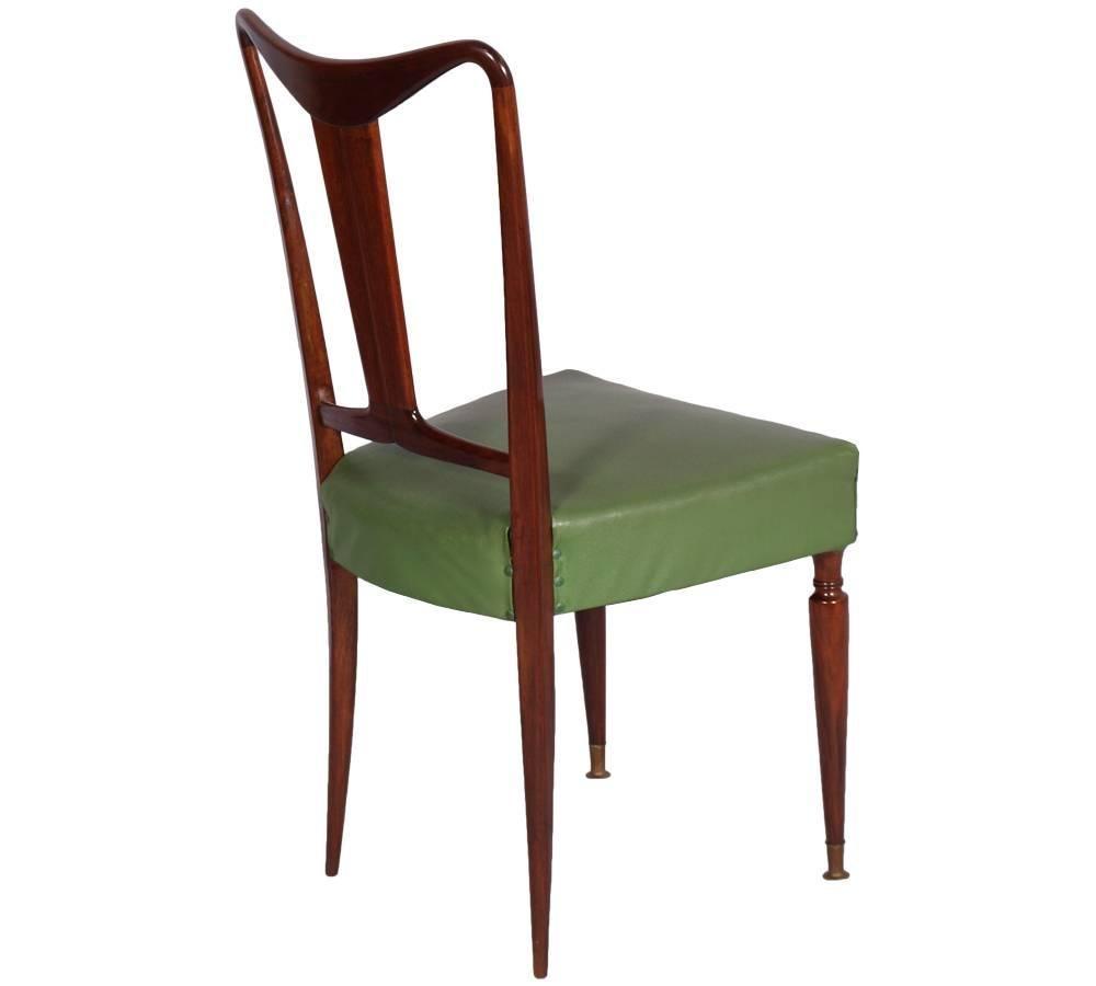 italienischer mid century nussholz esstisch 6 st hle bei pamono kaufen. Black Bedroom Furniture Sets. Home Design Ideas
