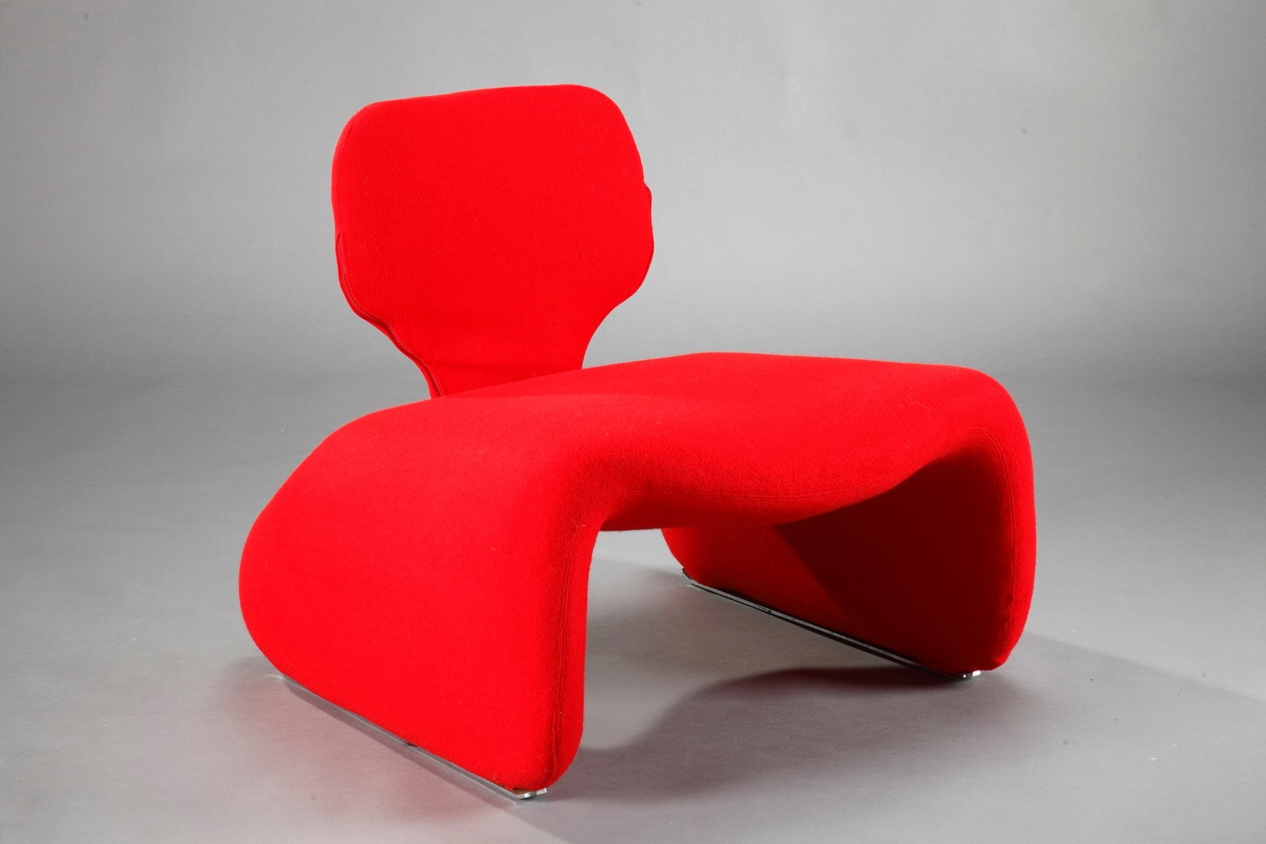 Roter Djinn Chair von Olivier Mourgue für Airborne, 1960er