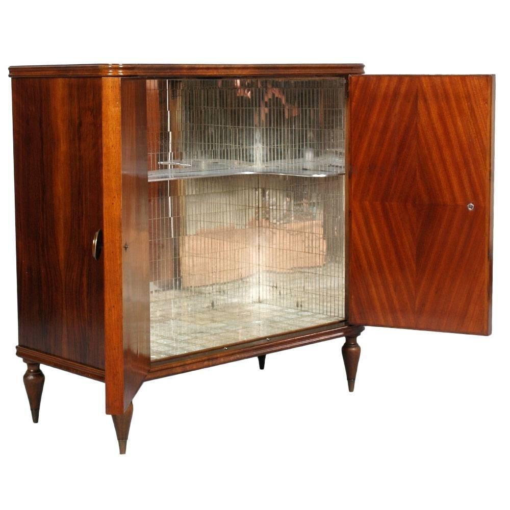 meuble de bar avec miroirs internes italie 1940s en. Black Bedroom Furniture Sets. Home Design Ideas