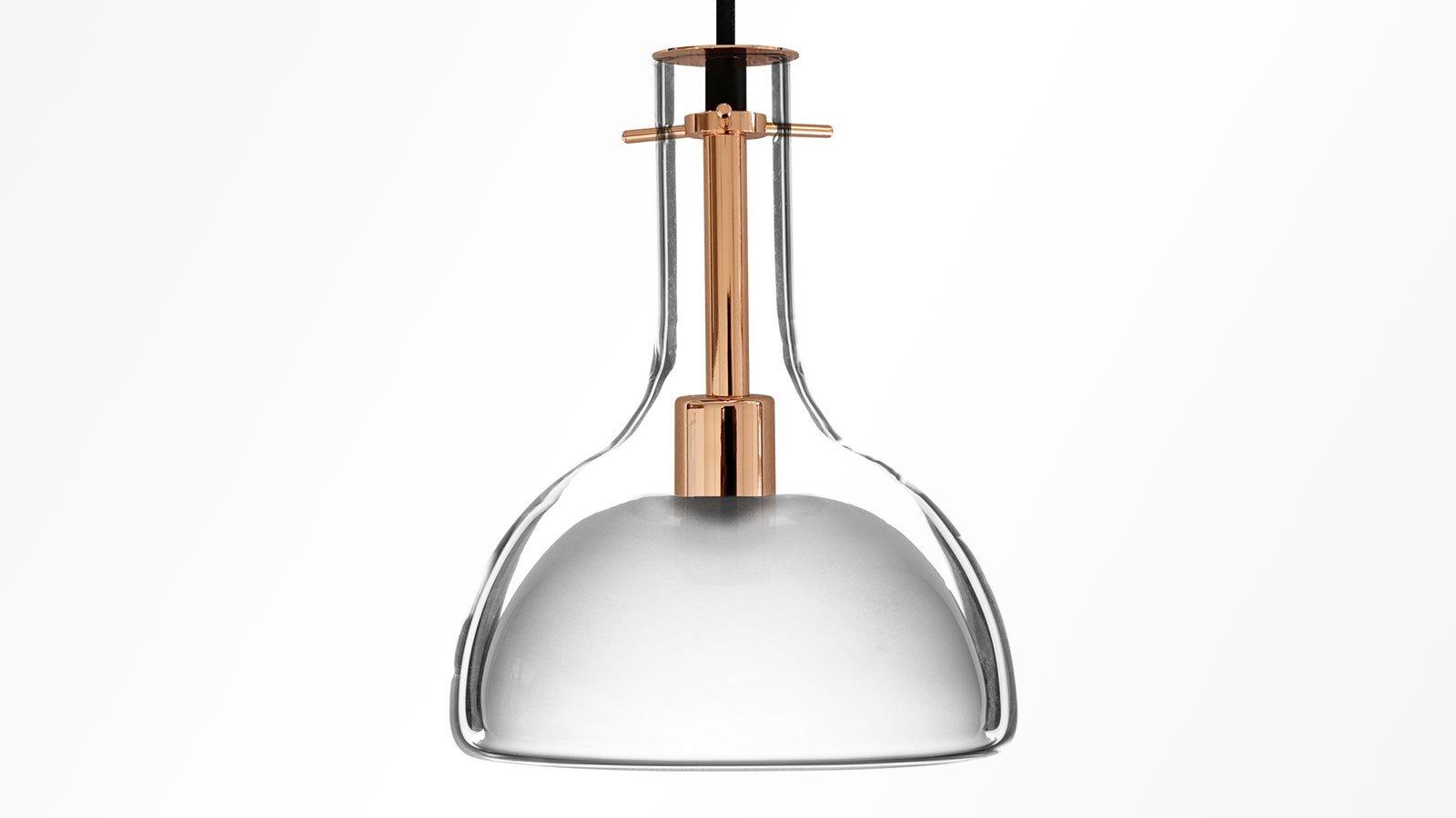Wolkje M Roségold Hängelampen von Fällander Glas für Akaru, 3er Set