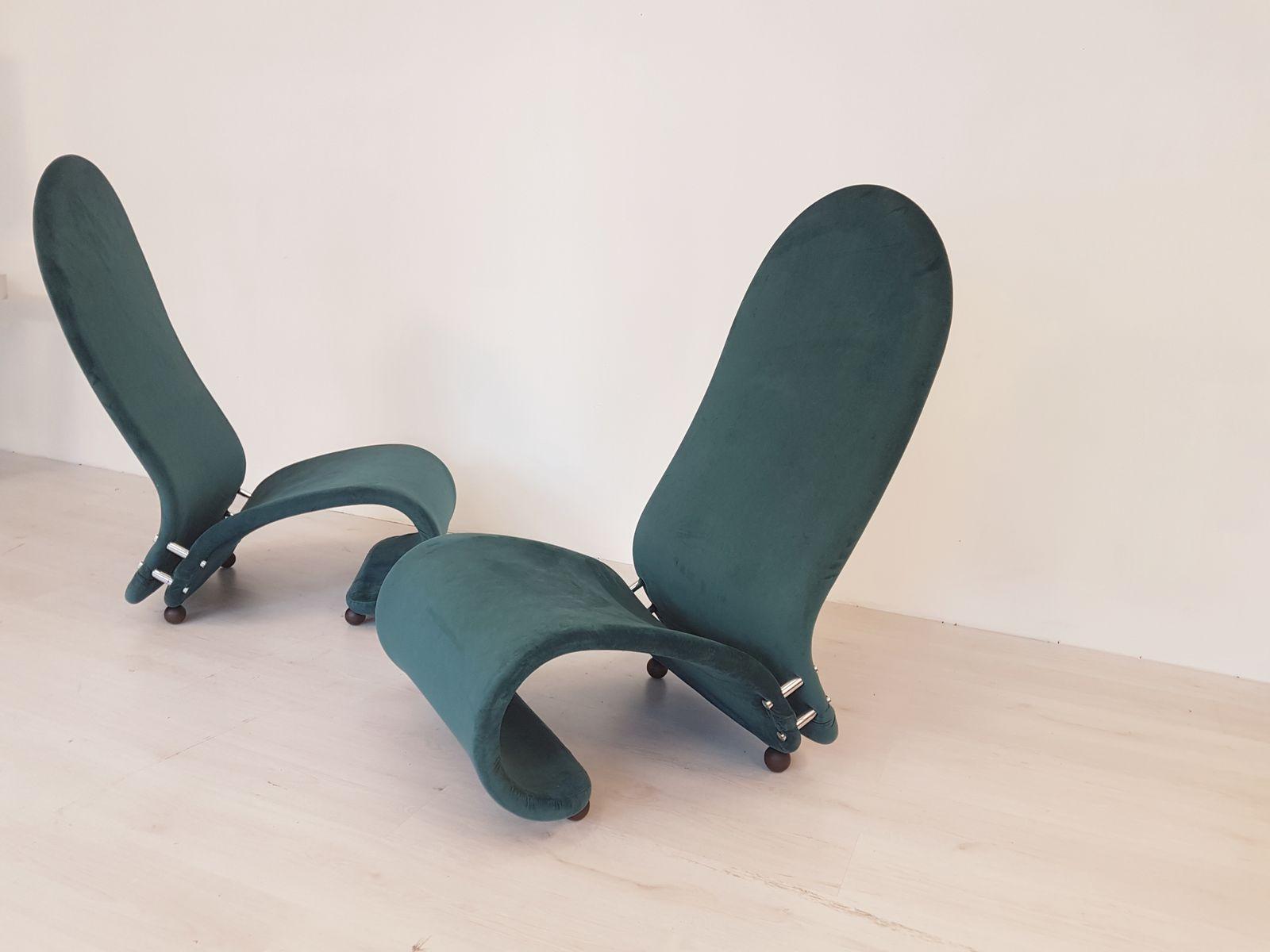 modell g sessel von verner panton f r fritz hansen 1970er 2er set bei pamono kaufen. Black Bedroom Furniture Sets. Home Design Ideas