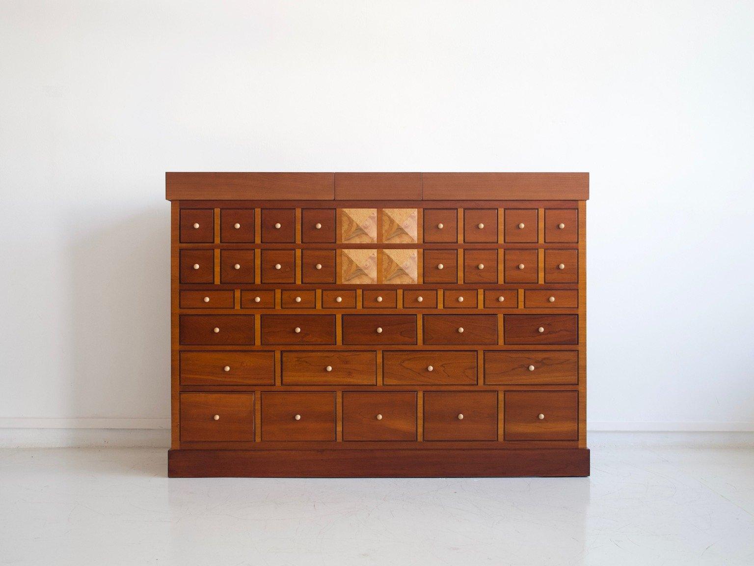 mueble bar de madera de cerezo de sellaro arredamenti s r