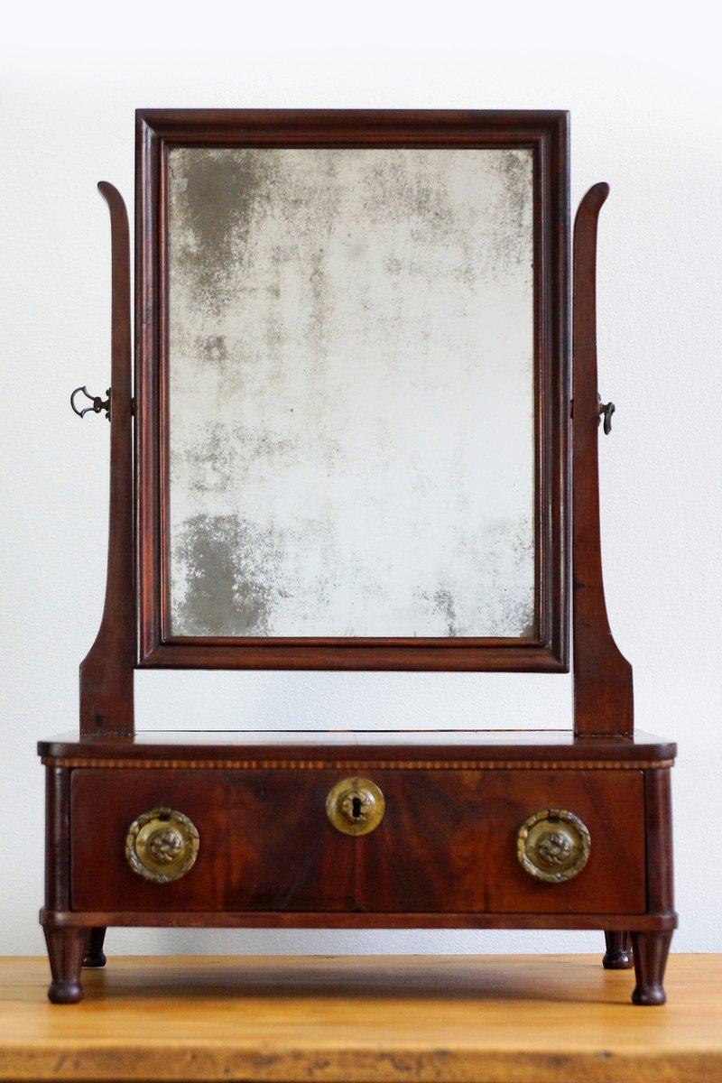Französischer Louis XVI Mahagoni Tischspiegel, 1790er | Flur & Diele > Spiegel > Standspiegel | Holz