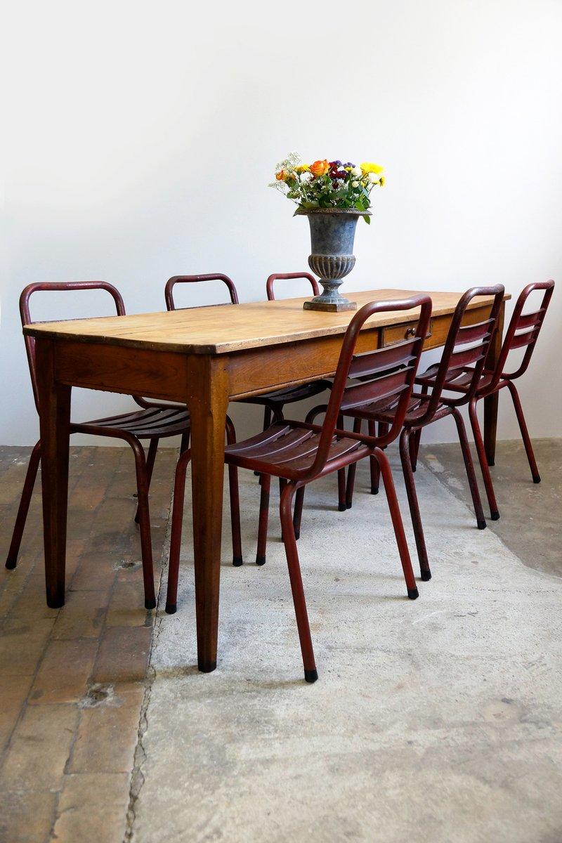 Antiker franz sischer gasthaus tisch mit ahorn platte bei for Tisch ahorn
