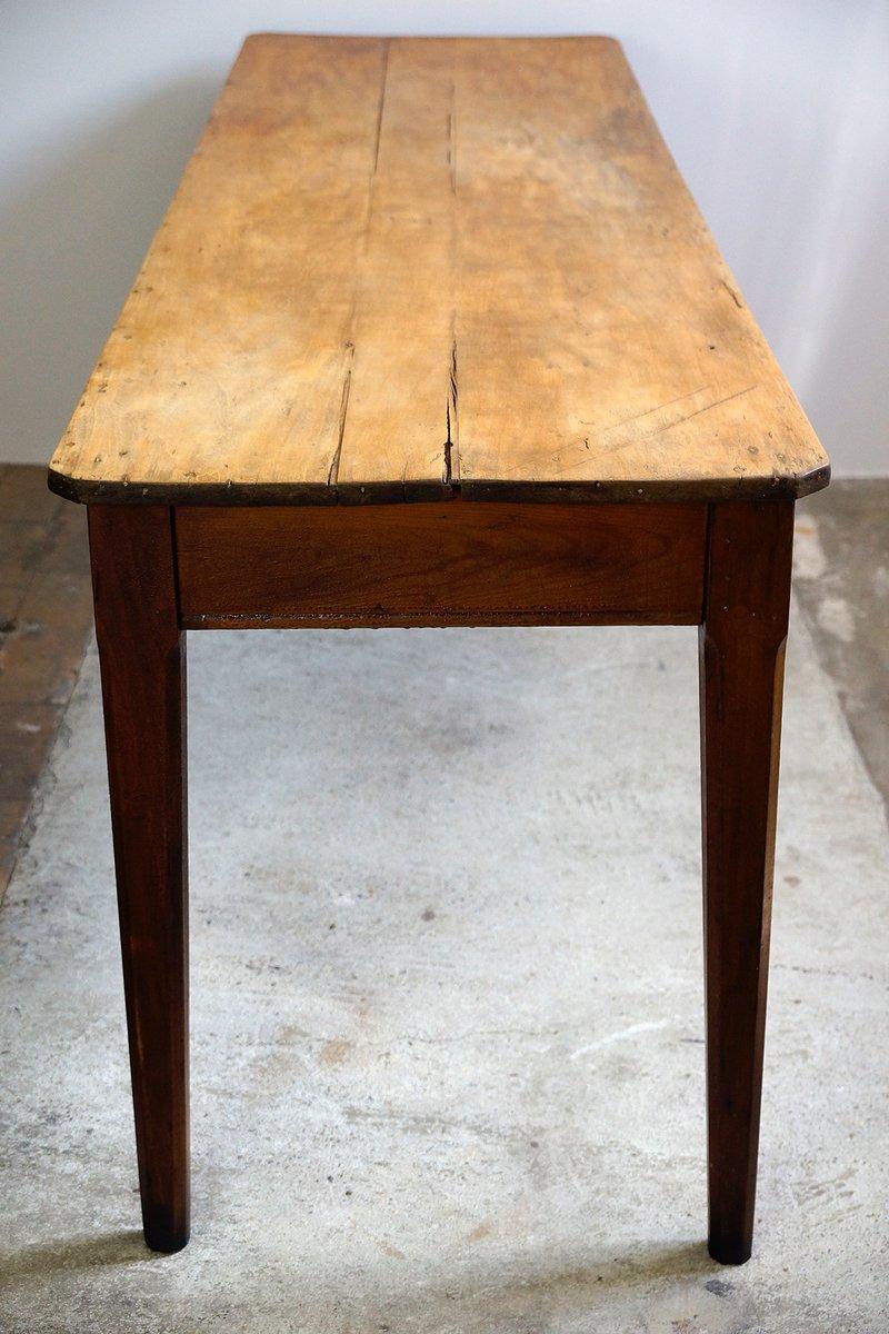 antiker franz sischer gasthaus tisch mit ahorn platte bei pamono kaufen. Black Bedroom Furniture Sets. Home Design Ideas