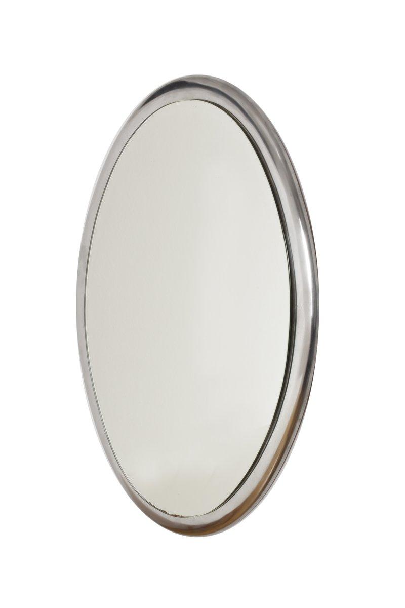 Italienischer ovaler wandspiegel mit metallrahmen 1970er bei pamono kaufen - Wandspiegel metallrahmen ...