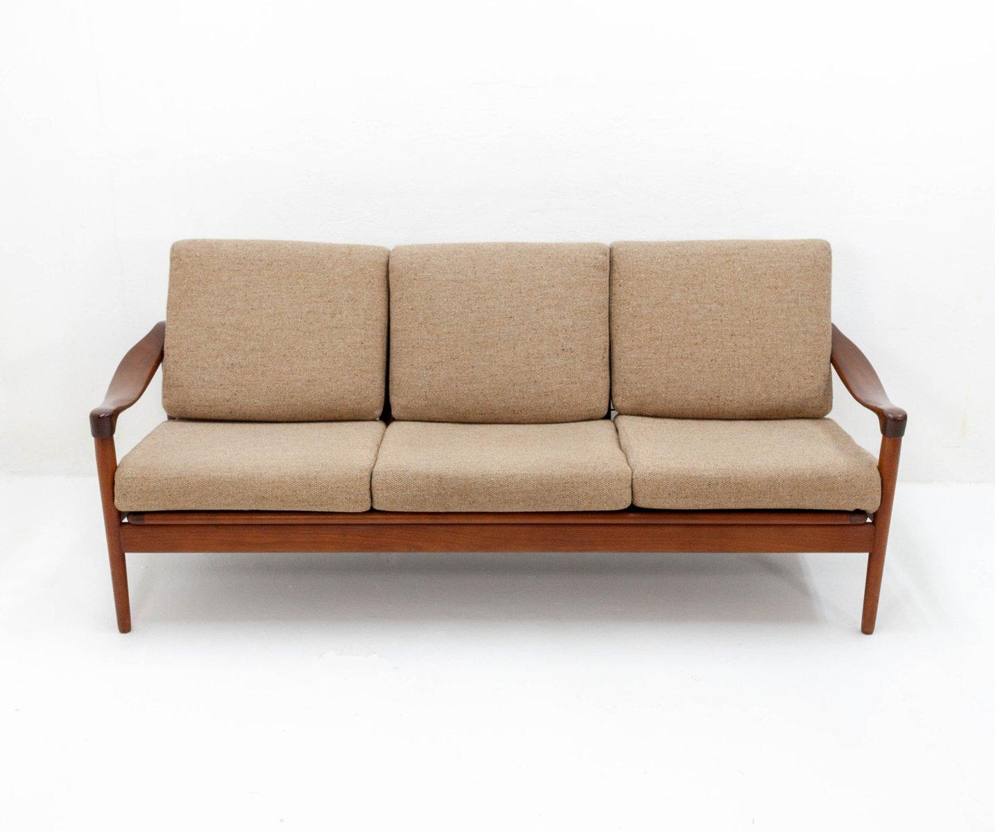 Teak 3-Sitzer Sofa von De Ster Gelderland, 1950er