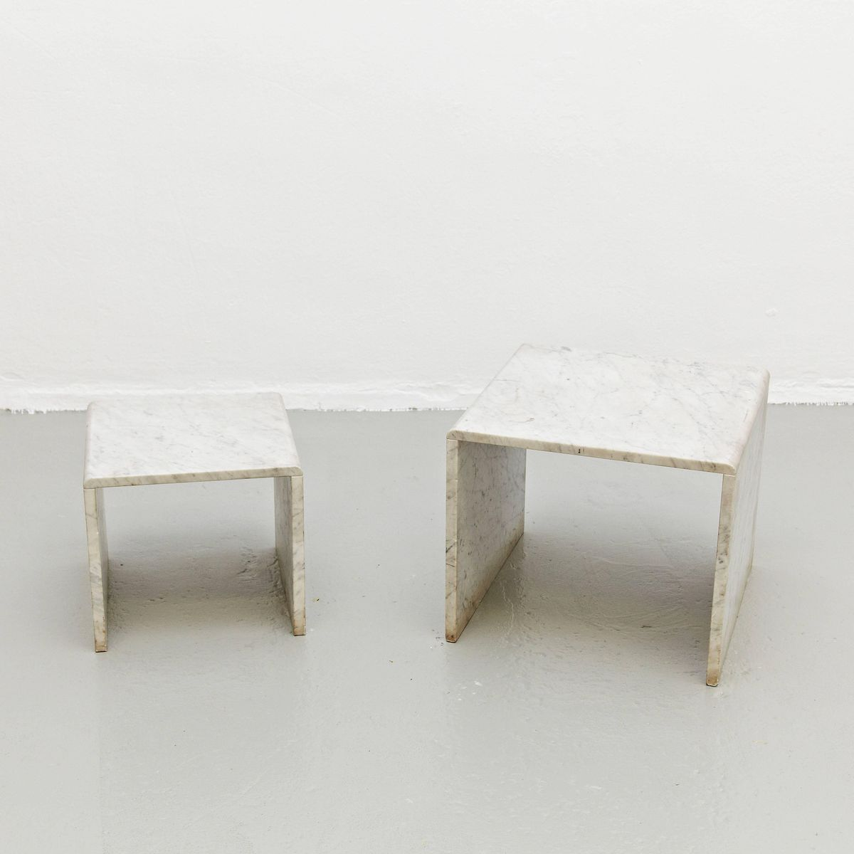 White marble nesting tables 1960s for sale at pamono white marble nesting tables 1960s watchthetrailerfo