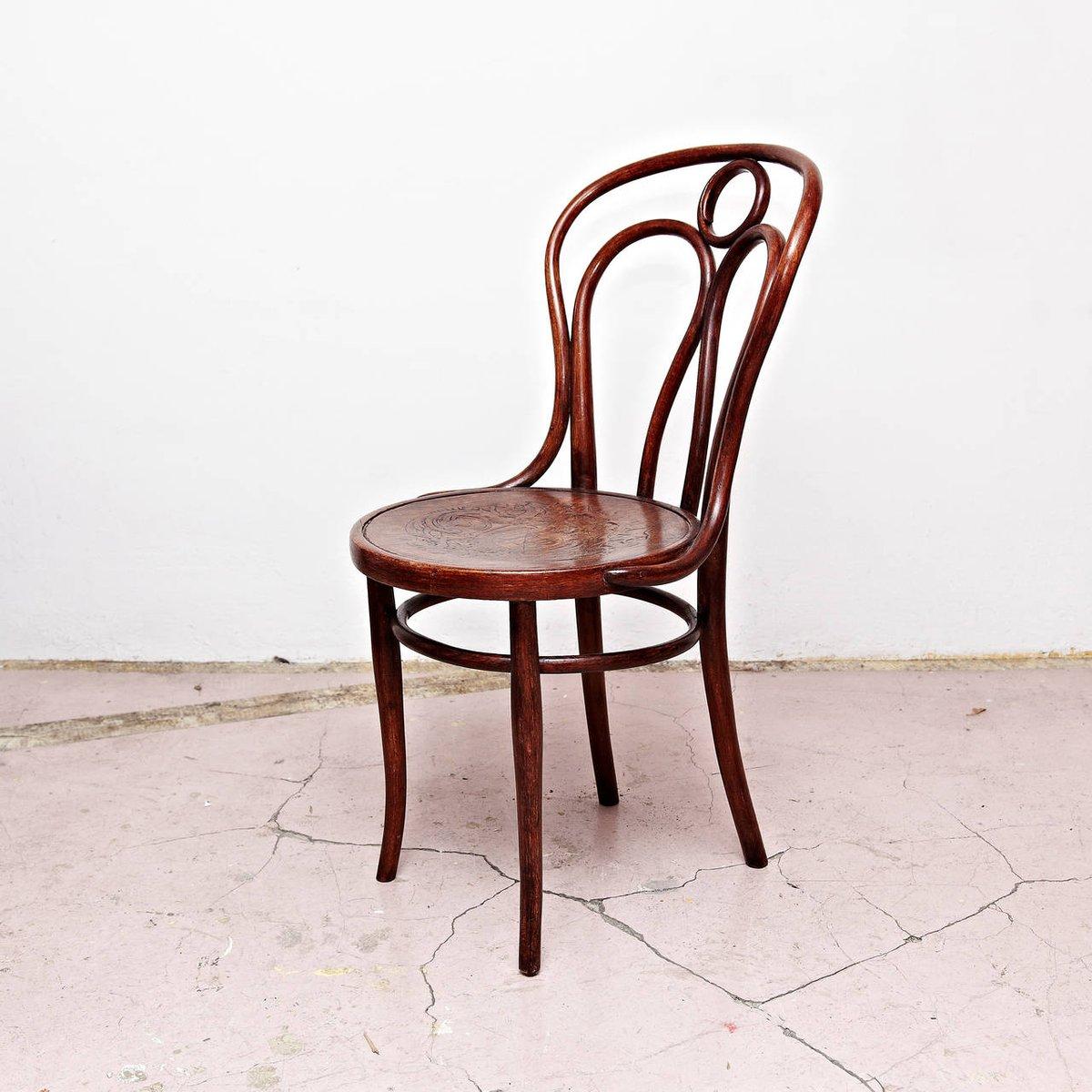 antiker holz stuhl von thonet bei pamono kaufen. Black Bedroom Furniture Sets. Home Design Ideas