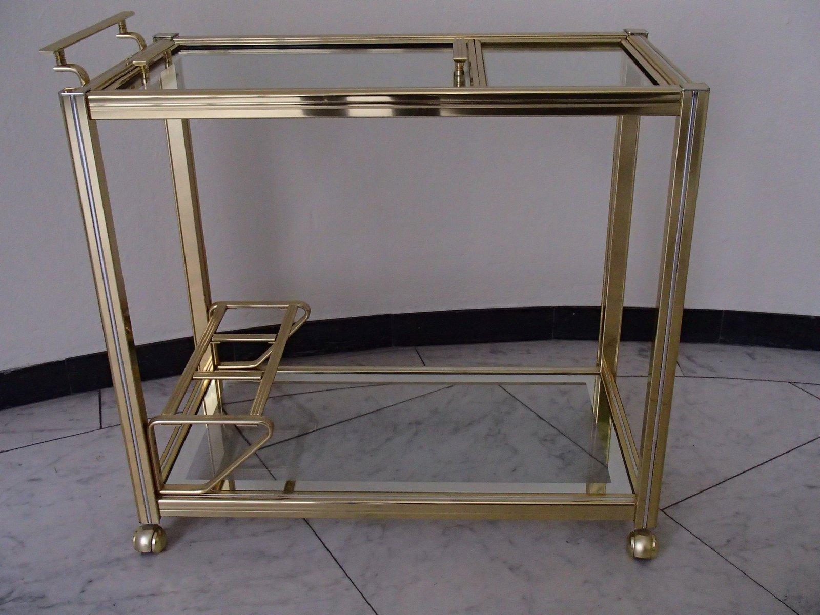 vintage brass bar cart for sale at pamono. Black Bedroom Furniture Sets. Home Design Ideas