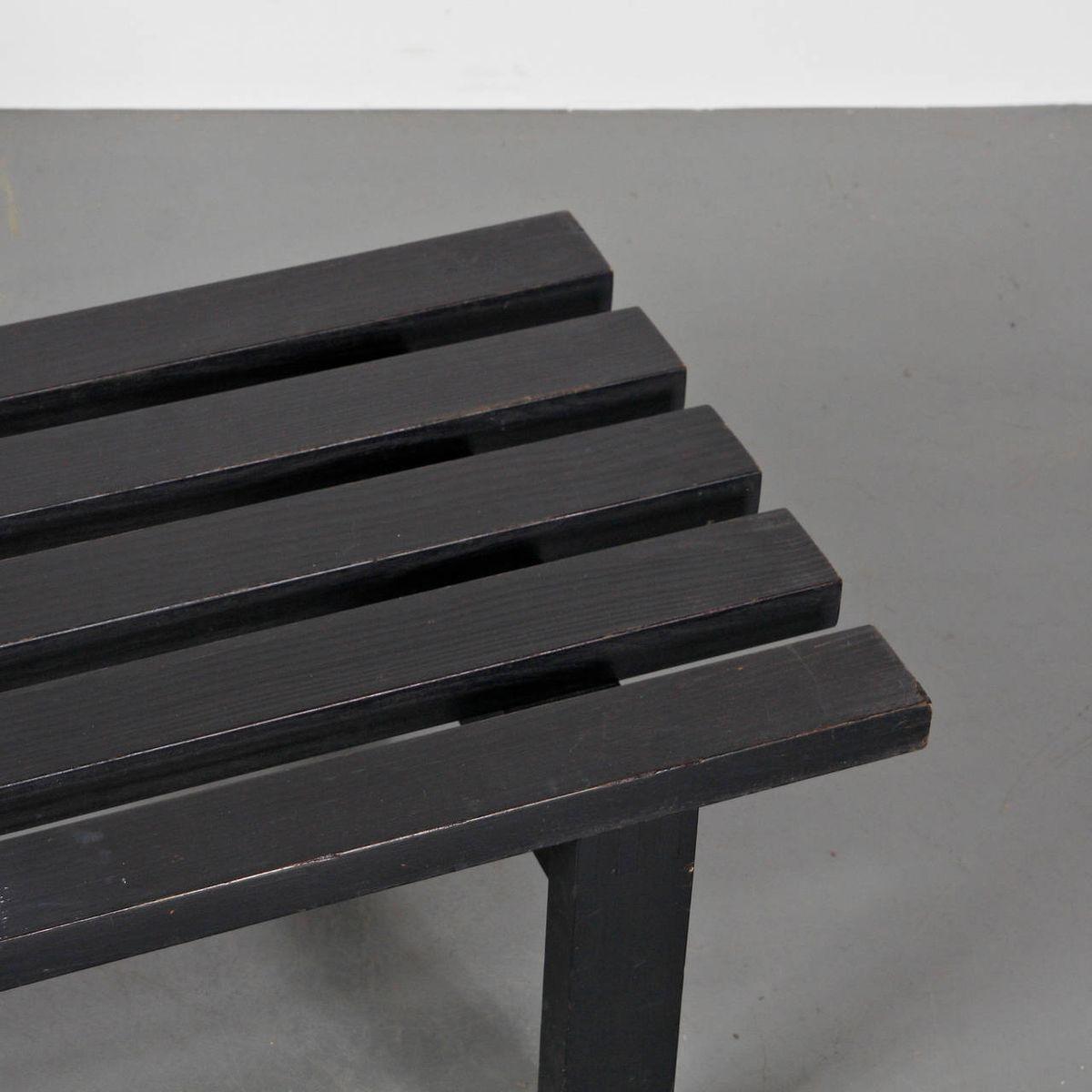 holz bank von martin visser f r 39 t spectrum 1950er bei pamono kaufen. Black Bedroom Furniture Sets. Home Design Ideas