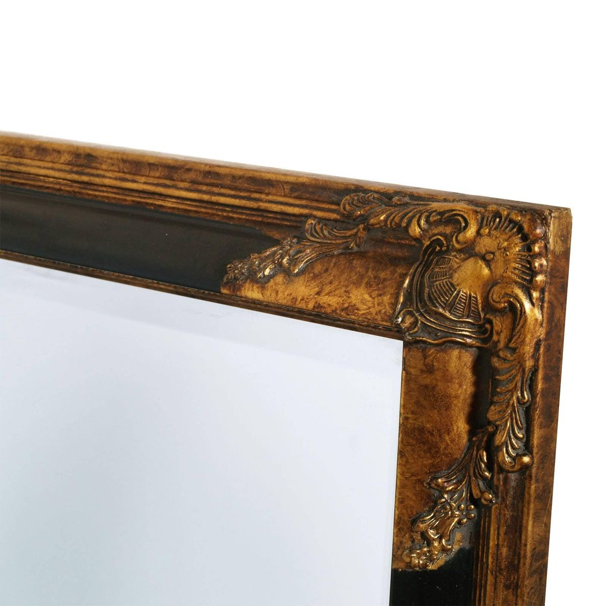 Florentine Art Deco Mirror with Carved Frame, 1940s for sale at Pamono
