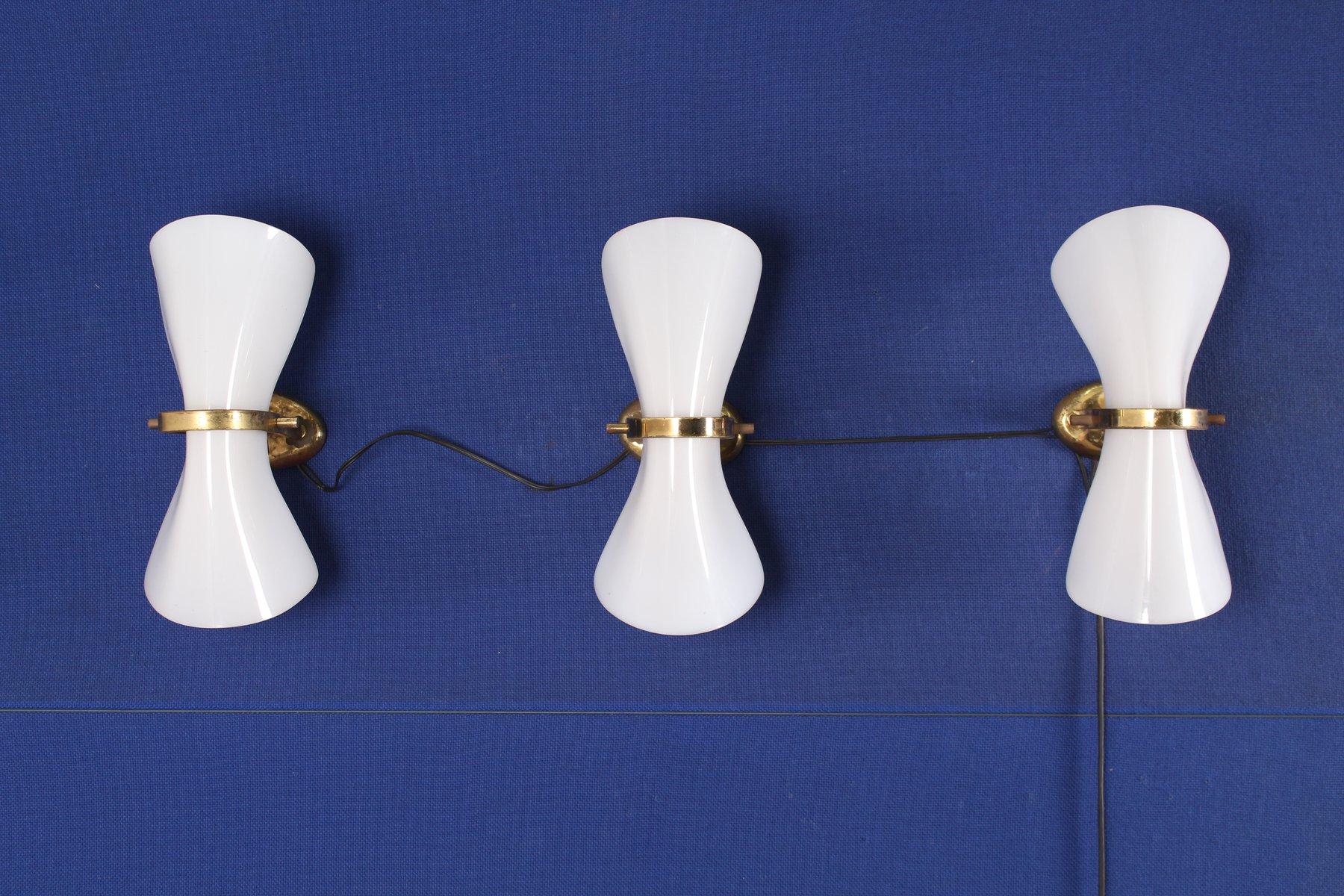 Vintage Wandlampen, 3er Set