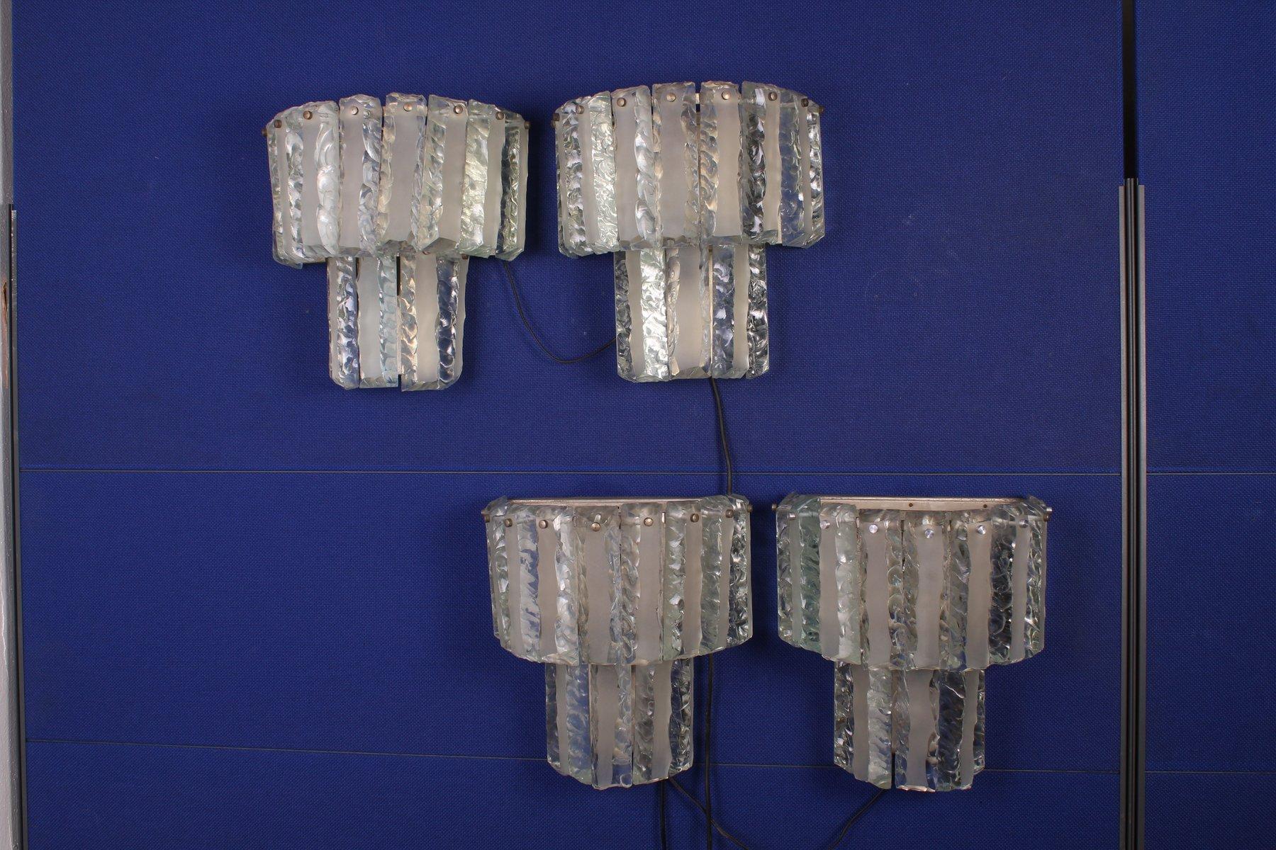 Wandlampen von Zeroquattro, 1970er, 4er Set