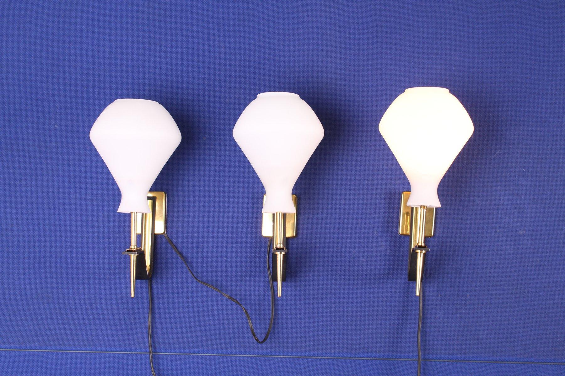 Vintage Wandlampen von Stilux Milano, 1960er, 3er Set
