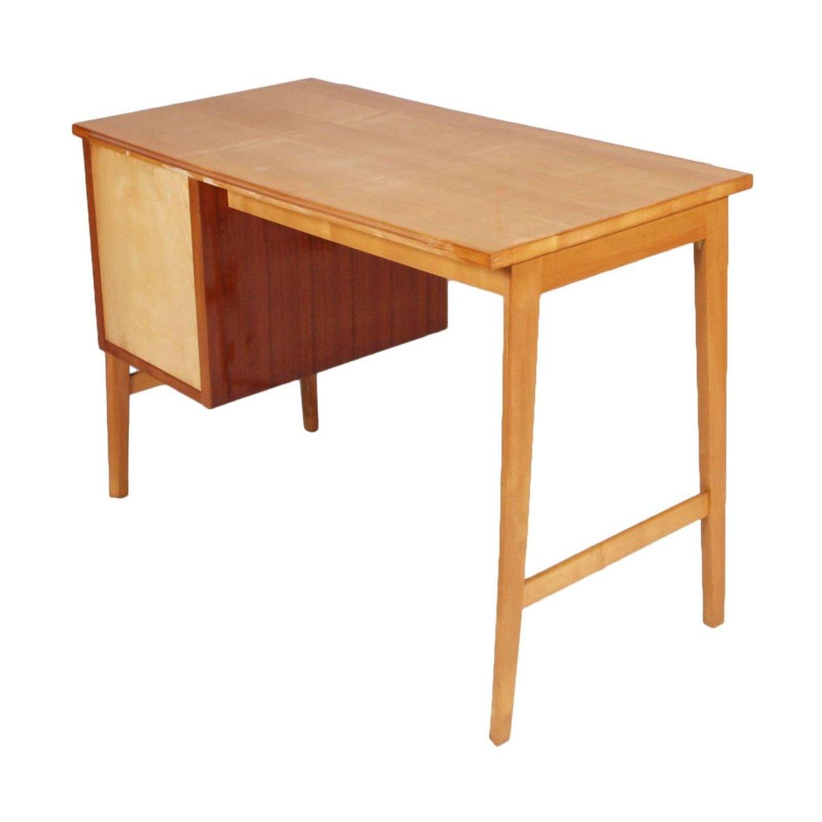 Mid century modern schreibtisch aus buchenholz ahorn und for Schreibtisch aus ahorn