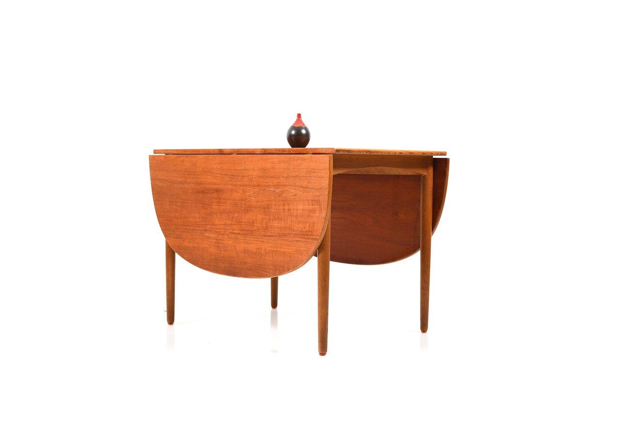 D nischer esstisch aus teak eichenholz 1950er bei for Eichenholz esstisch