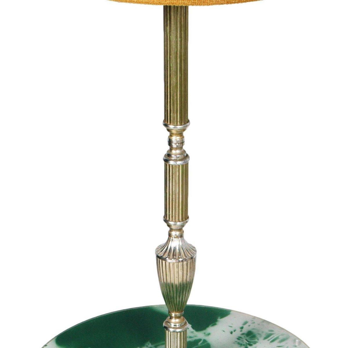 art deco dreibein stehlampe mit ablage bei pamono kaufen. Black Bedroom Furniture Sets. Home Design Ideas