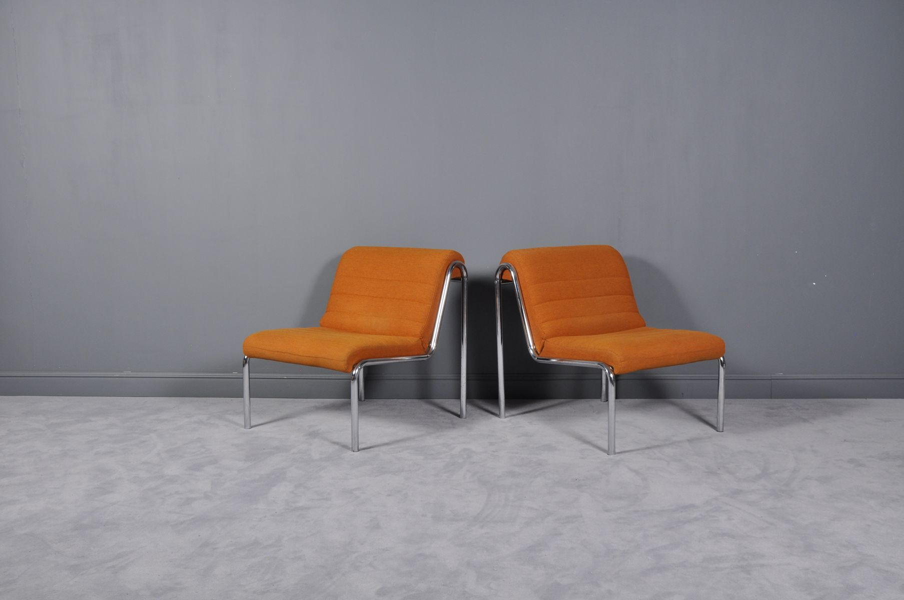 Orange Sessel, 1970er, 2er Set