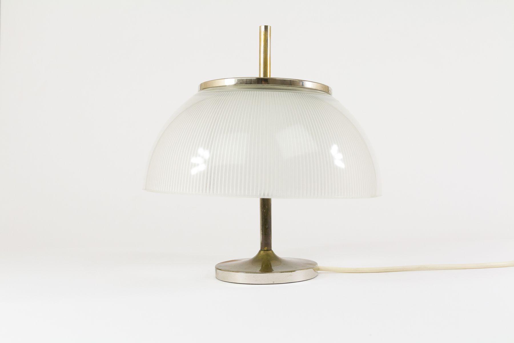 Metall und Glas Alfetta Tischlampe von Sergio Mazza für Artemide, 1960...