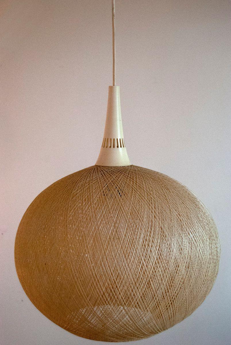 Fiberglas Hängelampe von Rotoflex, 1960er
