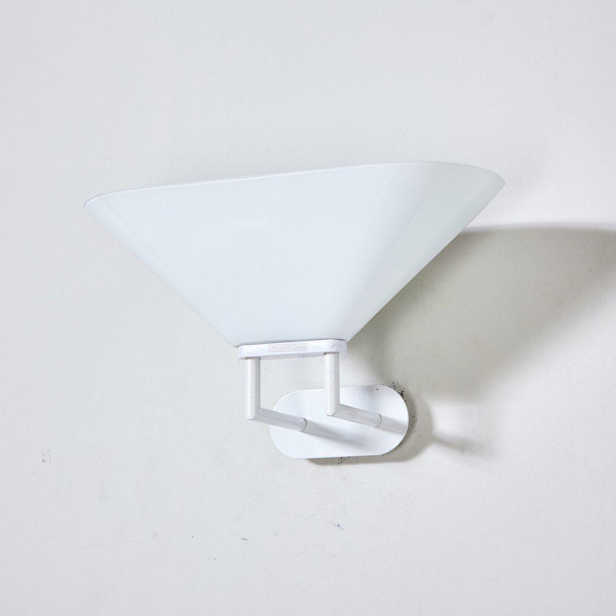 Weiße Murano Glas Wandlampe, 1970er