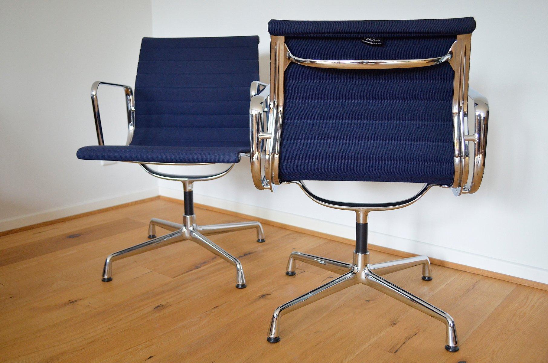 Vintage ea aluminium stühle von charles ray eames für vitra