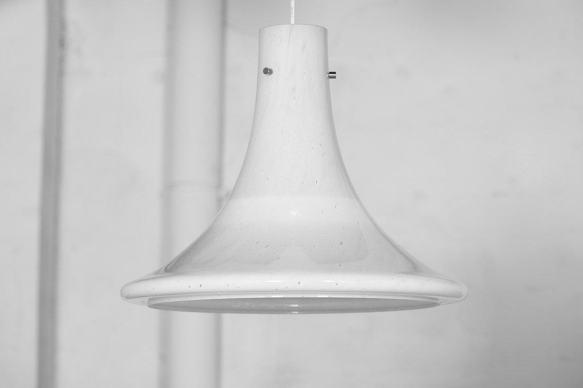 Große Deckenlampen aus Muranoglas von Limburg Glashütte, 1970er, 2er S...