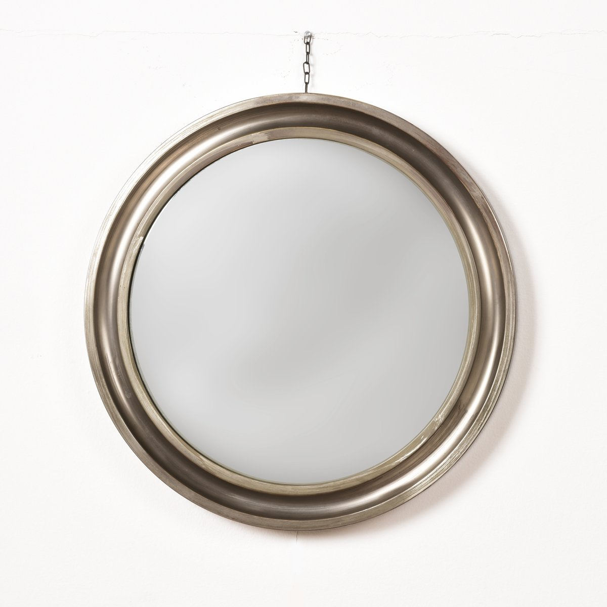 round mirror with metal frame by sergio mazza for artemide 1961 for sale at pamono. Black Bedroom Furniture Sets. Home Design Ideas