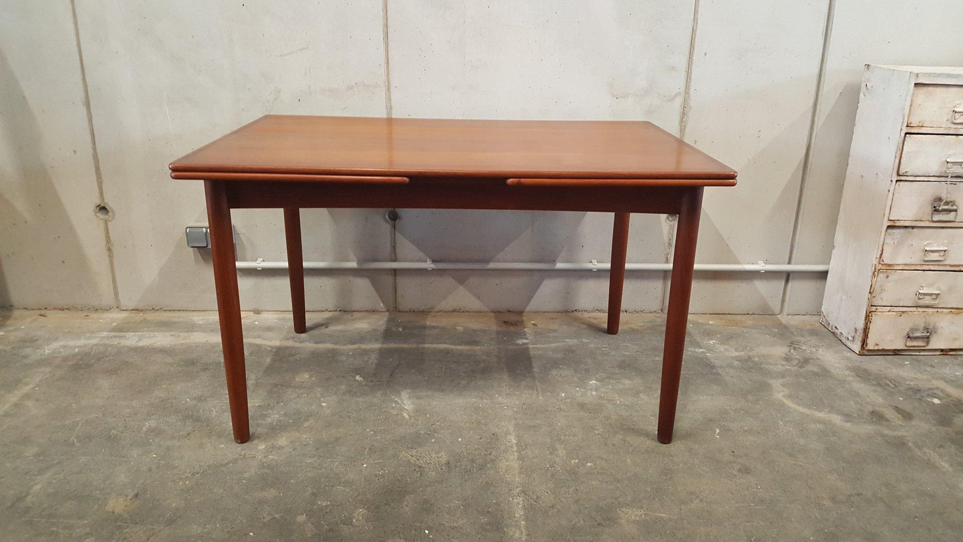Table de Salle à Manger Extensible Vintage en Teck, 1960s en vente ...