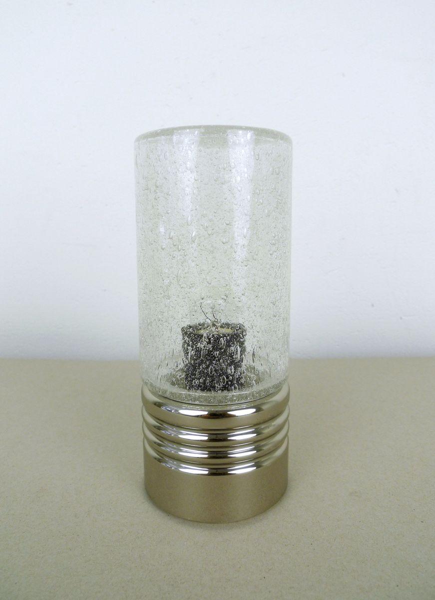 Zylindrische Tischlampen mit Sideglas, 1960er, 2er Set