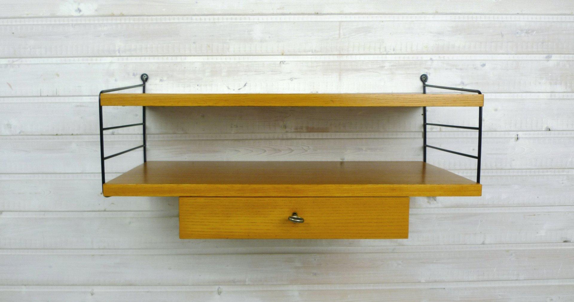 wand regalsystem von kajsa nils strinning f r string 1960er bei pamono kaufen. Black Bedroom Furniture Sets. Home Design Ideas