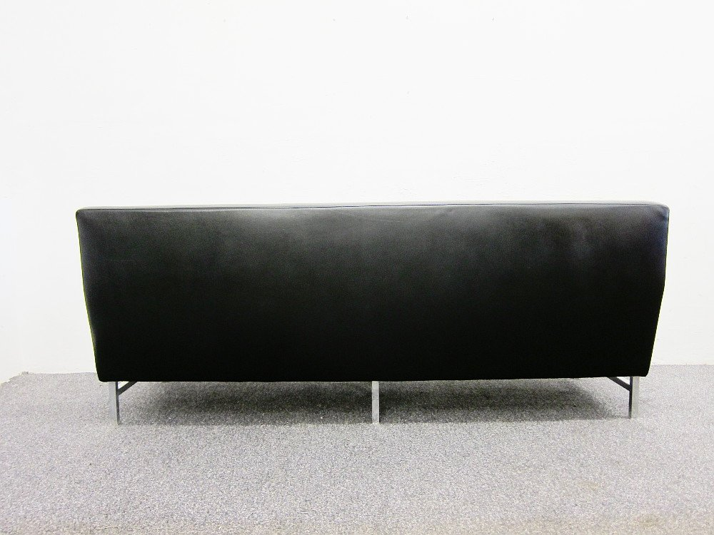 3 sitzer leder sofa von thonet 1960er bei pamono kaufen. Black Bedroom Furniture Sets. Home Design Ideas