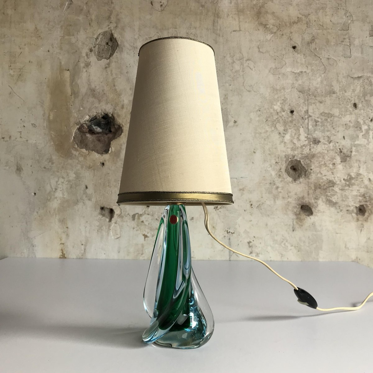 Italienische Murano Glas Tischlampe von Pietro Toso & Co, 1950er