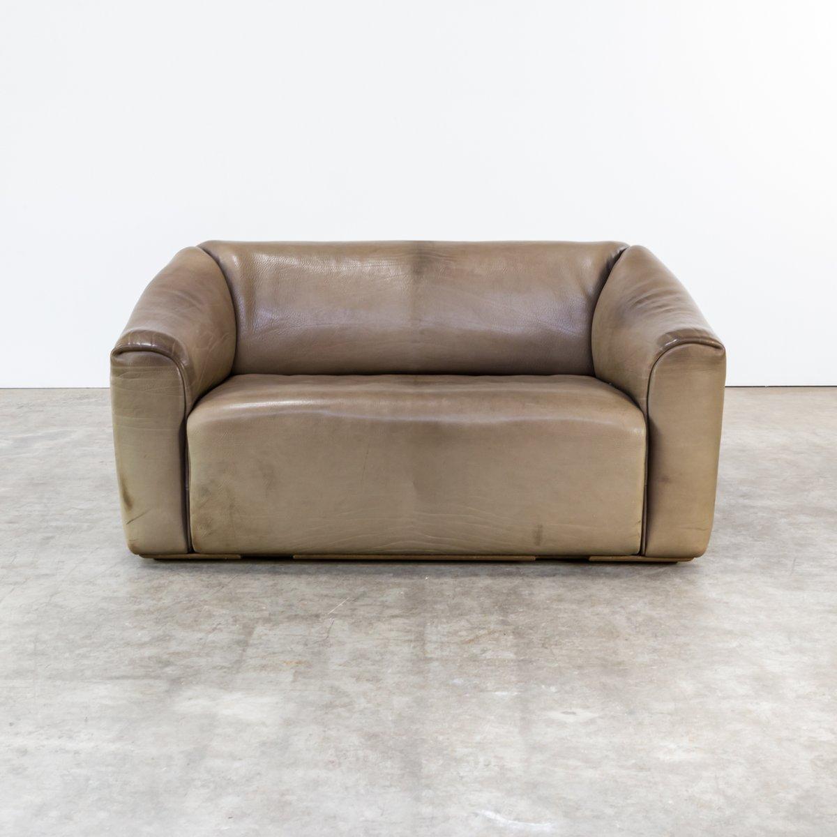 canapé deux places ds47 en cuir de de sede, 1960s en vente sur pamono