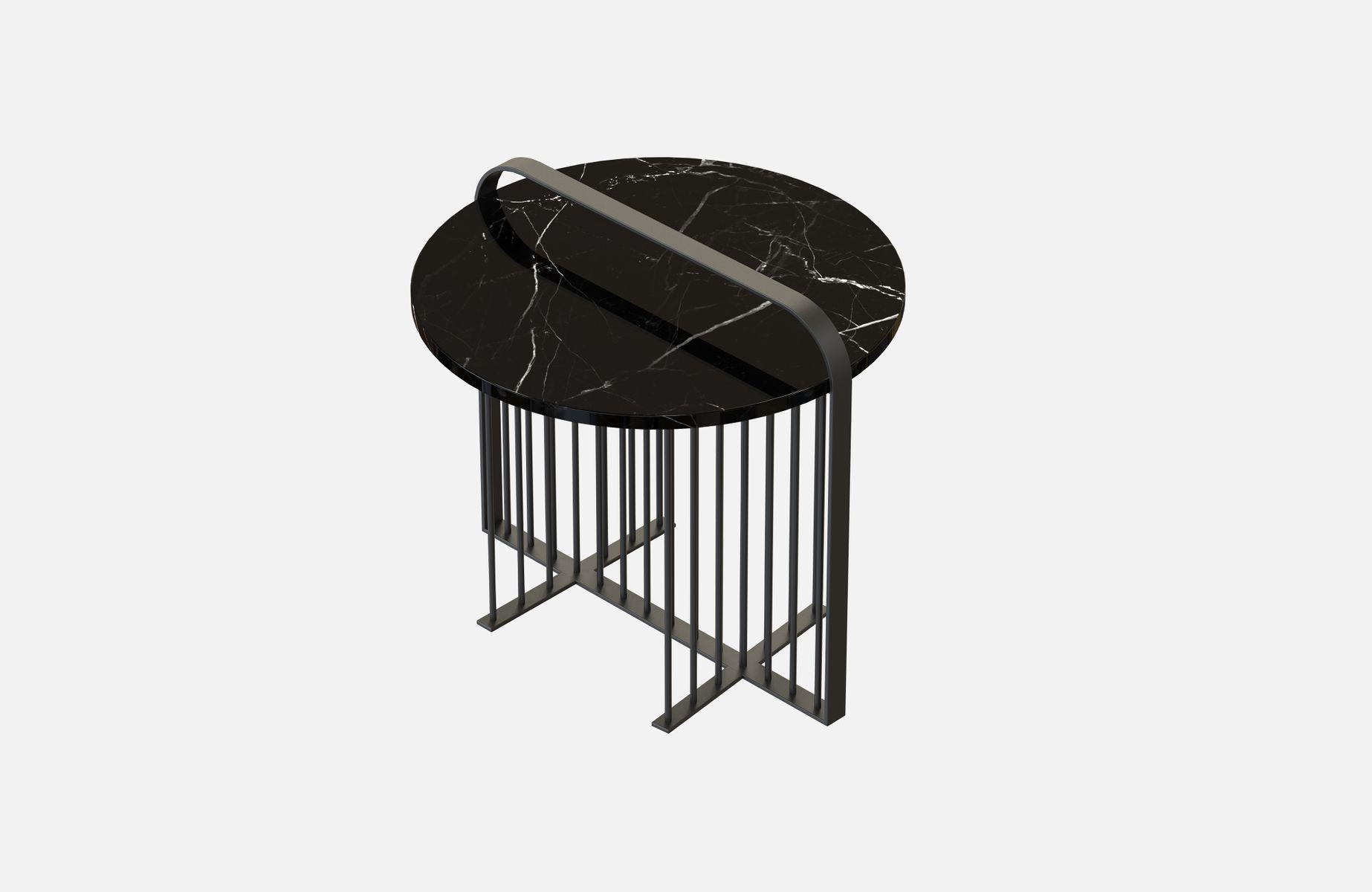 MEISTER Couchtisch mit schwarzem Marmor von Alex Baser für MIIST